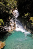 Waterfall at the Milford Road — Stock Photo