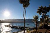 Waterside of Te Anau, New Zealand — Stock Photo