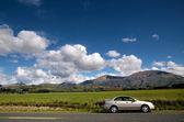 Car at country road — Stock Photo