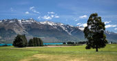 Mountain range near Queenstown — Stock Photo