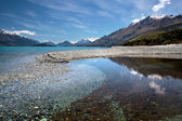 Banks of Lake Wakatipu between Queentown and Glenorchy — Stock Photo