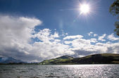 Lake Hayes on a stormy day — Stock Photo