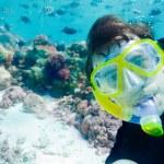 Underwater self photo of the scuba diver — Stock Photo #9625801