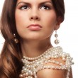 Royalty-Free Stock Photo: Portrait of a girl with pearls necklace