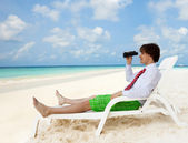 Looking for good vacation options — Stock Photo