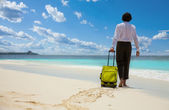 Vacation on the beach is desired for office workers — Stock Photo