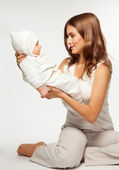 Active play with baby — Stock Photo