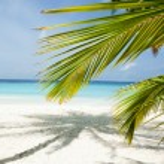 Maldives beach background — Stock Photo #9630565
