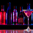 Cocktail glass with drink in the bar — Stock Photo #9630627