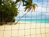 Beach volleyball place — Stock Photo