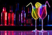 Two refreshment drinks — Stock Photo