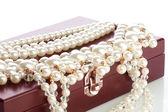 Arco de madera con joyas — Foto de Stock