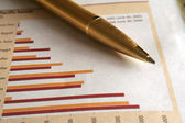 Pen and Graphs — Stock Photo