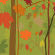 Background autumn wood — Stock Vector