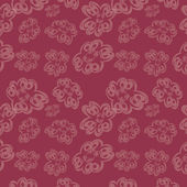 Dikişsiz arka plan şeffaf çiçekler ile — Stok Vektör