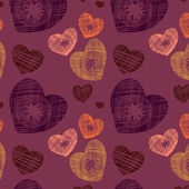 Original seamless background with hearts — Stock Vector