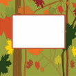 Vector autumn frame — Stock Vector #9456946