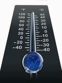 Freezing cold temperature — Stock Photo