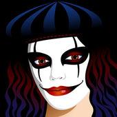 Beautiful clown — Stock Vector