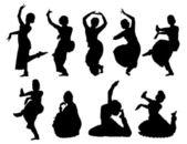 Indian women dancing — Stock Vector
