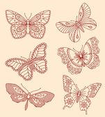 Decorative butterflies — Stock Vector