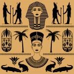Egyptian decorative patterns — Stock Vector