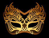 Gold mask — Stock Vector