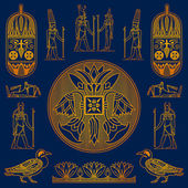 Egyptian gold elements — Stock Vector