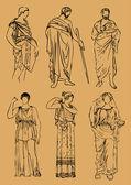 Antic Greek costumes — Stock Vector