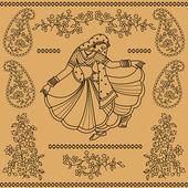 Indian dancing — Stock Vector