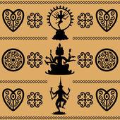 Eastern Hindu deities — Stock Vector