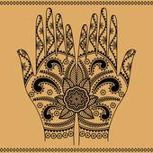Hände mit dekorativen muster — Stockvektor