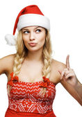 Sexy woman dressed as Santa Claus — Stock Photo