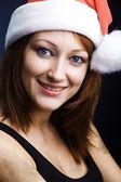 Woman dressed as Santa Claus — Stock Photo