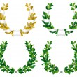 Stock Vector: Laurel and oak wreaths