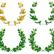 Laurel and oak wreaths - Stock Vector