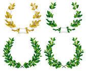 Laurel and oak wreaths — Stock Vector
