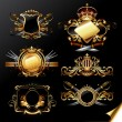 Royalty-Free Stock Vector Image: Set of ornamental golden labels