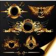 Royalty-Free Stock Vectorafbeeldingen: Set of ornamental golden heraldic elements