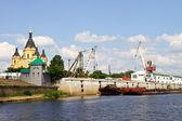 Porto fluviale — Foto Stock
