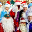 Parade of Father Frost and Snow Maidens — Stock Photo