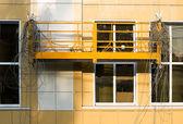 Reparação da fachada do edifício — Foto Stock