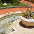 Stock Photo: Landscape design of corner of park with fountain