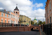 Stone bridge in Voronezh in Russia — Stock Photo