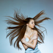 Woman with flying hair — Stock Photo #8395486