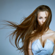 Beautiful woman with flying hair — Stock Photo #8395616