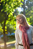 Woman in the summer park — Stock Photo