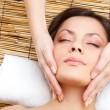 Womreceiving neck massage — Stock Photo #8962362