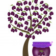 Stock Photo: Tree of plums