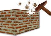удрученный стены — Стоковое фото
